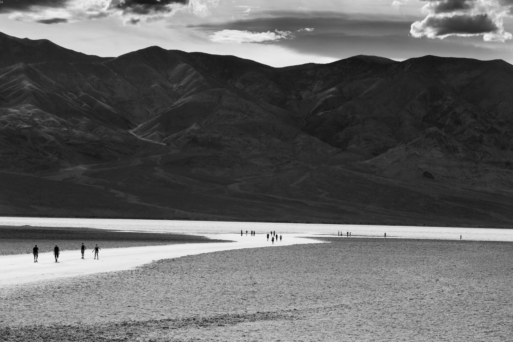 Bad Water - Death Valley - Black & White