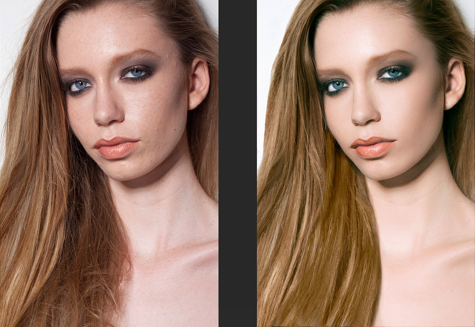Retouch before & after
