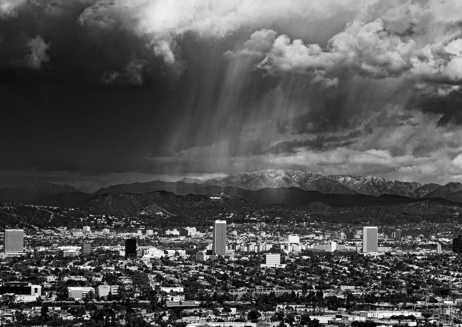 Storm Over Hollywood - Black & White